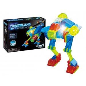 Lego Crystaland Bloques Luminosos Ladrillos Con Luz Led Robot Espacial 4 En 1