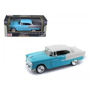 Auto Chevy Bel Air 1955 Escala 1:24 Metal Colección Motormax