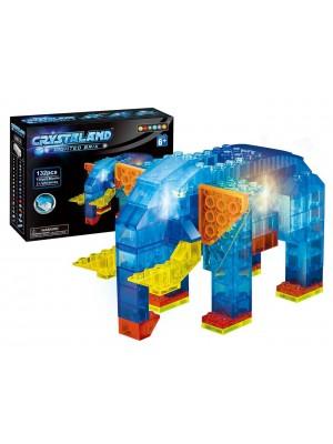 Lego Crystaland Bloques Luminosos Ladrillos Con Luz Led Elefante 6 En 1