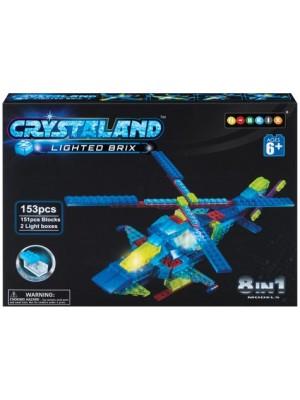 Lego Crystaland Bloques Luminosos Ladrillos Con Luz Led Helicóptero 8 En 1