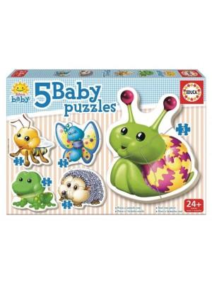 Baby 5 Puzzles Animales Juguetes Educa