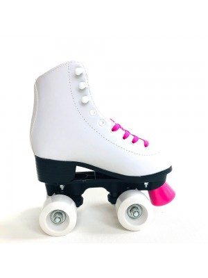 Rollers Patines Profesional Bota Cuero Blanco Talle 34