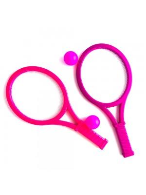Set Juego De Paddle Tenis Raquetas Con Pelota Badminton & Rackets Ball