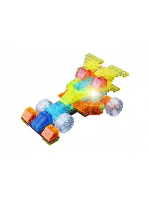 Lego Crystaland Bloques Luminosos Ladrillos Con Luz Led Auto F1 4 En 1